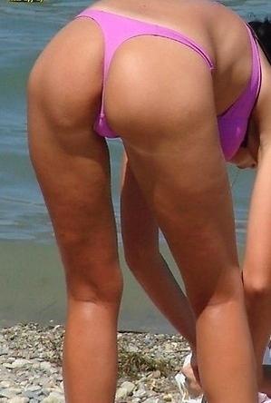 bikini,busty nudists,hot nudists,on  beach,panties,