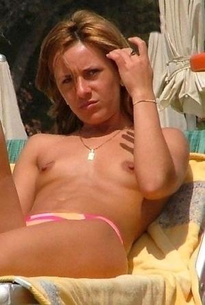 on  beach,public,topless,
