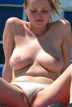 busty nudists,on  beach,panties,topless,