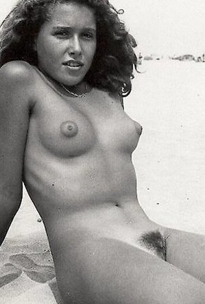 on  beach, vintage nudism,
