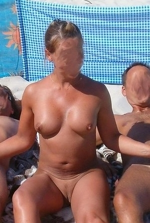 busty nudists,exhibitionists,fuck on the beach,mature nudists,pussy licking,sex,threesome,