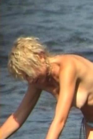 blonde women,busty nudists,nude,on  beach,topless,