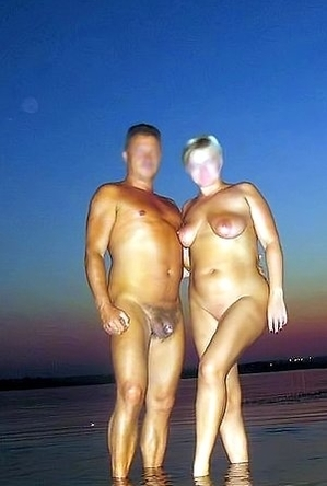 on  beach,