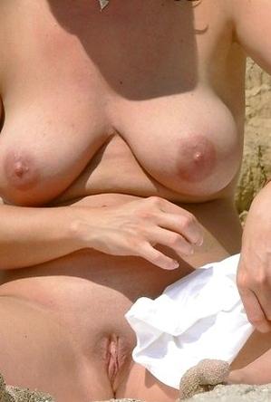 hot nudists,on  beach,