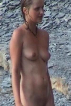 brunette,naked girls,nude,on  beach,skinny girls,