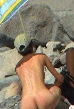 nude,on  beach,public,